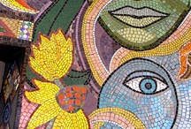 Mosaics / Beautiful works of art with colorful glass. / by Gisele Hawkins