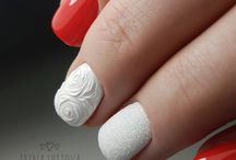 Nails art - red shades
