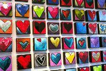 Сердечки росписные