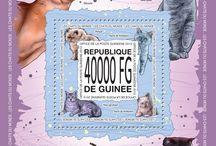 New stamps issue released by STAMPERIJA | No. 348 / GUINEE, REPUBLIQUE DE 30 11 2013 Code: GU13501a-GU13510b