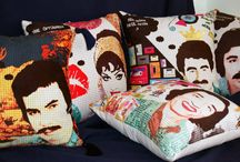 textile / Kitsch- decorative pillows-Turkish film artists