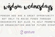 Wisdom Wednesday / Giving you tips on how to make your charity event a successful one!