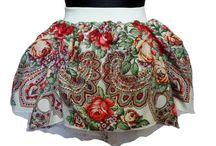 Spódnica ludowa, nowoczesna folkowa i bajecznie kolorowa / Spódnice podkreślają kobiecość,  pokazuje tu również moje spódnice inspirowane folklorem, z tkanin ludowych, wzory góralskie i łowickie