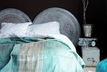 Moody boudoirs / A little boho a lot dark. Something different for the bedroom.