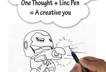 Linc with your creativity / Linc Pen- The inspiration behind your creativity. Let the canvas of your imagination be best expressed with innovation.