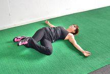 Stretching/yoga poses