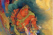 狩野芳崖 Kano Hougai / 仁王捉鬼図 1886 西洋の合成顔料を本格的に使ったとされる最初の作品。日本画の新たな可能性を開き東京美術学校設立の契機になる。