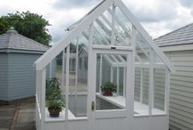 Greenhouses from from Crane Garden Buildings / Our timber framed greenhouses are an iconic, elegant Victorian design. They are generously proportioned with plenty of height and a steep roof pitch. They have built in automatic opening vents for perfect ventilation. They are constructed from a very high quality timber which is a harmonious material for the garden and we have a variety of colours to choose from to paint the timber.