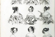 1836-1839 women / Female fashion for ladies in the late 1830s. Reference for artwork.