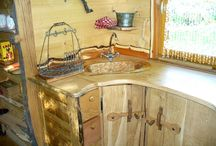 Roulotte Bois / Roulotte réalisée avec sept essences de bois