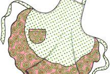 Essut - Aprons / Kivoja ja kauniita esiliinoja - Nice and pretty aprons.