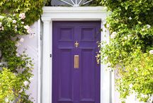 Colorful Front Doors / Beautiful entry doors are a great way to update or add curb appeal to your home. Here are some fun and colorful doors that we have found. #color frontdoors