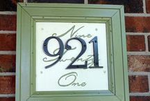 Diy house numbers / diy_crafts
