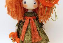 Текстильные куколки и игрушки ручной работы.
