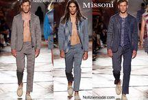 Missoni uomo / Missoni collezione e catalogo primavera estate e autunno inverno abiti abbigliamento accessori scarpe borse sfilata uomo.