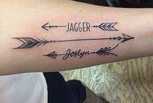 Two Names Tattoo Boys
