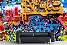 skateboard graffiti wall