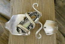 pearls & silver  spoons jewelry