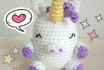 Pudgy Unicorns / Pudgy Unicorn Amigurumi pattern #unicorn #pattern #amigurumi