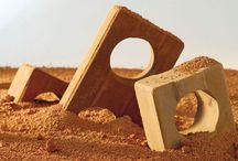 tijolo de terra com secante natural