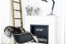 Stoer Scandinavisch / Scandinavische woonstijl. Puur en stoer. Stoere lampen in wit, zwart en grijs horen erbij!