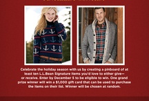 L.L. Bean Signature Holiday Wish List / Because I'm from Maine. :)