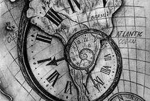 Clock, maps, copmapss