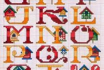Borduren alfabet