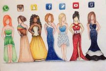 dress draw
