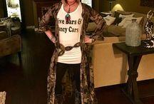 Bohemian Inspired Fashion Kristin rockin the Camo duster dress!