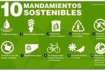 10 Mandamientos sostenibles. / Infografía