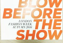 Blow Before the Show / Aquis Hair Towels at London Fashion Week 2016
