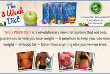 The 3 Week Diet / The 3 Week Diet Program by Brian Flatt. It is about healthy diet and happy life through food and exercises.