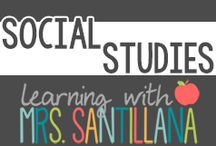 Social Studies Centers / social students centers for upper elementary grades / by Math Tech Connections