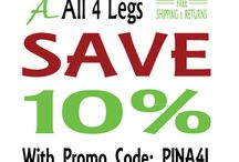 Save 10% / Save 10% when you order shoes or socks from All 4 Legs