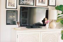 styling around tv.