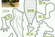 Dragões / Das idéias que me ofertam... moldes disponíveis na net Créditos nas imagens