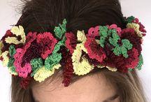 Crochet bohemian hairband