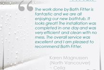Bath Fitter® Customers' Review / We are honored to receive all these great reviews from our local customers. As a company, Bath Fitter® will continue to upkeep our promise and great work done for our community. It all began in 1984. And we're proud of how far we've come. Thank you to all our customers for helping us get there.