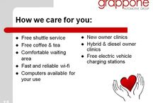 Grappone Does Business Differently / Take a look at Grappone's Visual Aid to see how they do business differently. They offer upfront pricing, a negotiation free buying process, free life inspections, a fair value on your trade, free shuttle service, 3 day return policy on all vehicles, 30 day exchange program on used vehicles and much more.