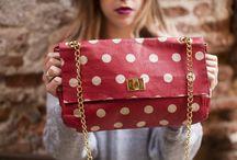 oilcloth polka dots shoulder bag - C 2.55