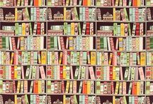 Fabric with book design / by Cindy Brewer