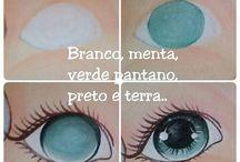 olhos pintados