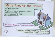Write Around the House / Navigating our living space is a voyage we do every day. We walk well-trodden paths, some places we visit less, others more regularly. The Write Around the House Writing Map is an invitation to record, chart, and use this daily adventure as inspiration for stories and philosophical thoughts. For inspiration, stay at home or check out http://www.writingmaps.com/