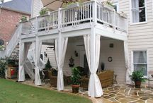 Patio under decks