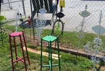 Garden Decor / A little bling for the outdoors!