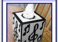 Music note tissue box