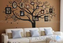 Muro con alberi
