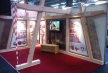 Carpenter Oak Ltd at the Homebuilding & Renovation Show / Carpenter Jan made a brand shiny new show stand - contemporary style! Jakob designed the graphics, and Migongo Films created the Carpenter Oak Ltd short film 'Timeless', to be launched on our new website shortly - watch this space!