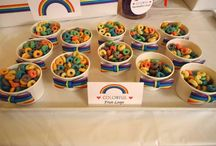 Parv bday ..rainbow theme / To arrange a bday in rainbow theme .. 1st bday